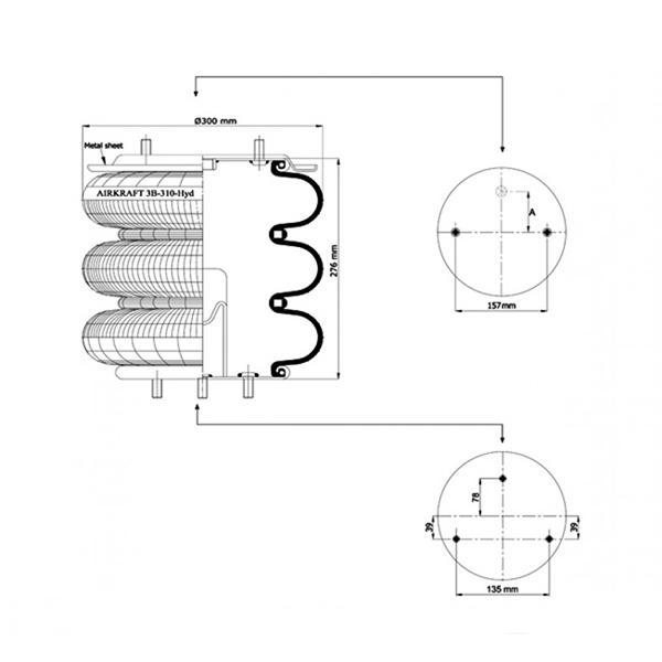 Airkraft 115015 - 3 Katlı 3B-310-HYD